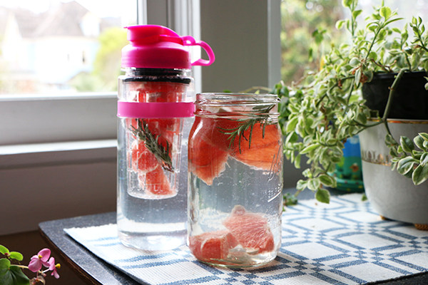 Grapefruit Rosemary Infused Water Recipe