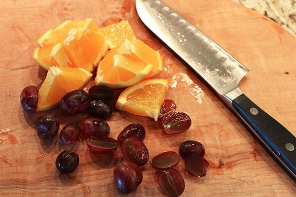 Grape Orange Infused Water