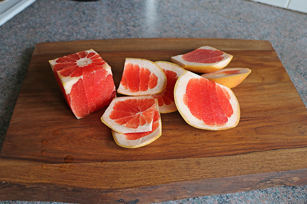 Squeeze the juice from the fruit rinds you have cut off when making infused waters.