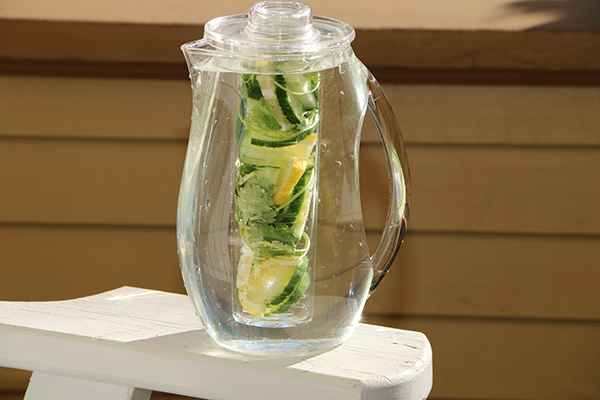 Lemon Cucumber Cilantro Infused Water