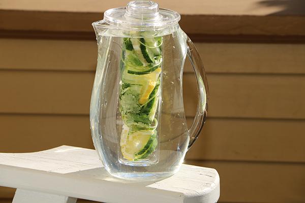 Lemon Cucumber Cilantro Infused Water