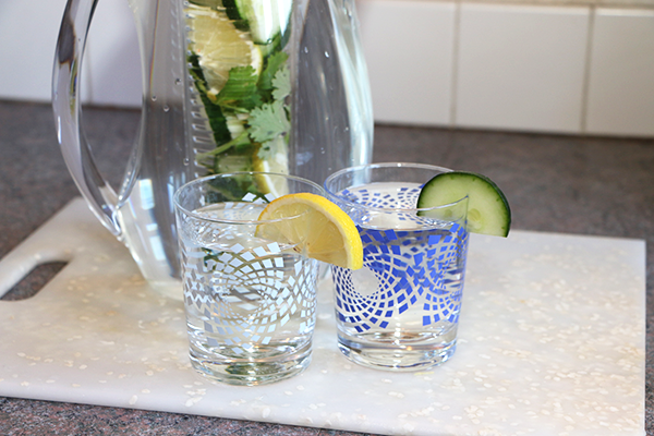 Lemon Cucumber Infused Water