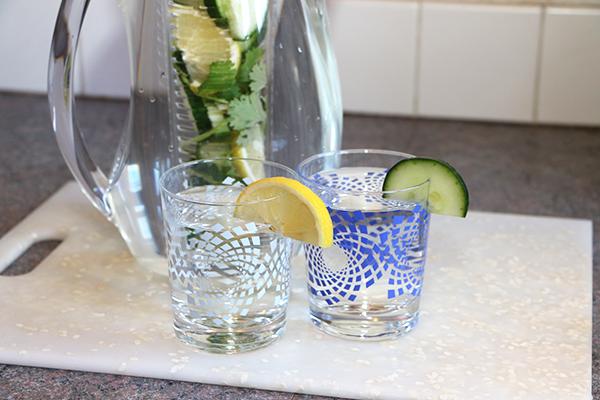 Lemon Cucumber Infused Water