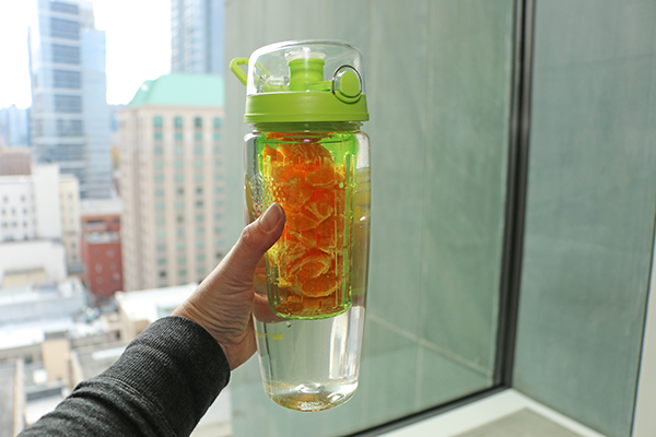 Recipes for fruit infused waters in an infuser water bottle